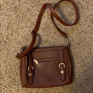 Charming Charlie cross body faux leather bag